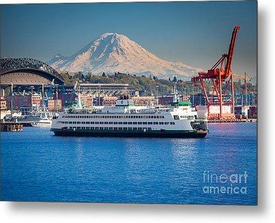 Seattle Harbor Metal Print by Inge Johnsson