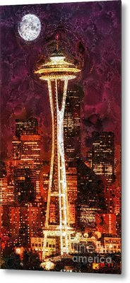 Seattle Metal Print by Mo T