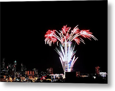Seattle New Years Metal Print by Benjamin Yeager