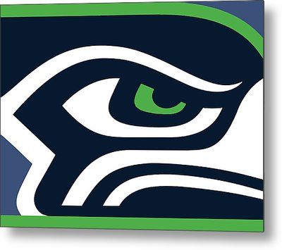 Seattle Seahawks Metal Print by Tony Rubino