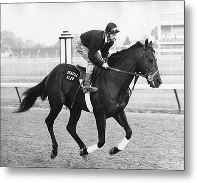 Seattle Slew Horse Racing #03 Metal Print by Retro Images Archive