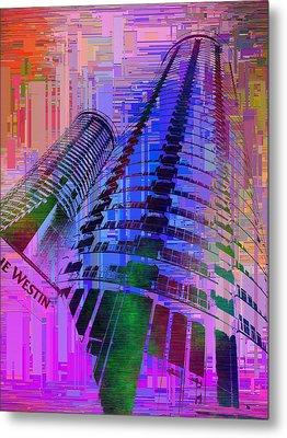 Seattle Westin Cubed 1 Metal Print by Tim Allen
