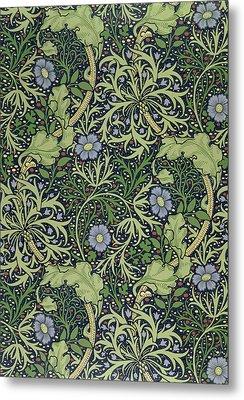 Seaweed Wallpaper Design Metal Print by William Morris