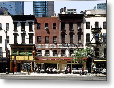 Second Avenue In New York City Metal Print by Linda  Parker