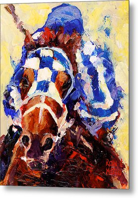 Secretariat Metal Print by Ron and Metro