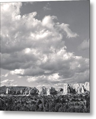 Sedona Arizona Mountains In Black And White Metal Print by Gregory Dyer