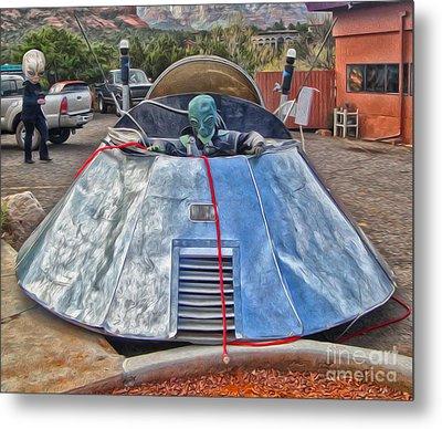 Sedona Arizona Ufo Landing Metal Print by Gregory Dyer