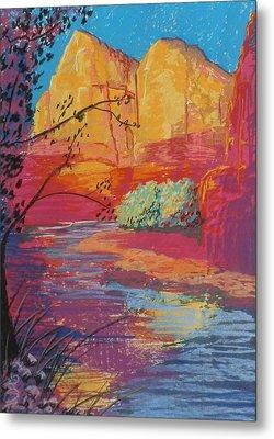Sedona Sunrise Metal Print by Jann Elwood