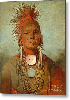 See Non Ty A An Iowa Medicine Man Metal Print by George Catlin