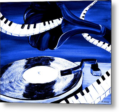 See The Song In Blue Metal Print by Mark Moore