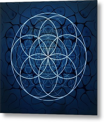 Seed Of Life Metal Print by Janelle Schneider