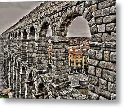 Segovia Aqueduct - Spain Metal Print by Juergen Weiss
