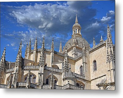 Segovia Gothic Cathedral Metal Print by Ivy Ho