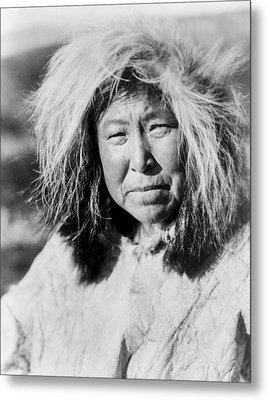 Selawik Indian Woman Circa 1929 Metal Print by Aged Pixel