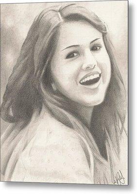 Selena Gomez Metal Print by Kendra Tharaldsen-Franklin
