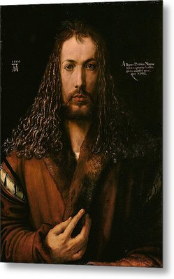 Self Portrait At The Age Of Twenty Eight 1500 Metal Print by Philip Ralley