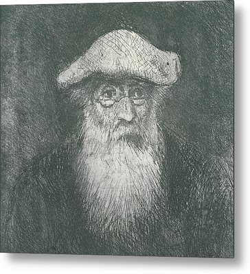 Self Portrait  Metal Print by Camille Pissarro