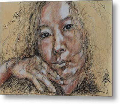 Self Portrait Of Becky Kim 2014 02 Metal Print by Becky Kim