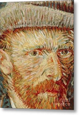 Self-portrait With Hat Metal Print by Vincent van Gogh