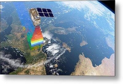 Sentinel-2 Satellite In Orbit Metal Print by Atg Medialab/esa
