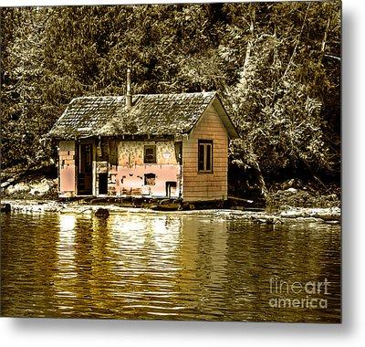 Sepia Floating House Metal Print by Robert Bales