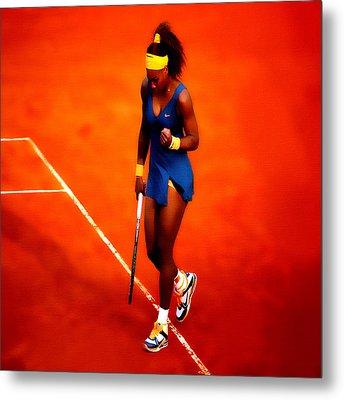 Serena Williams 4a Metal Print by Brian Reaves