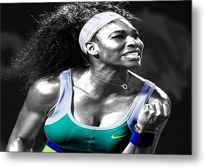 Serena Williams Ace Metal Print by Brian Reaves