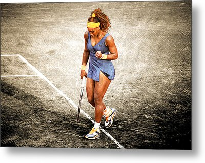 Serena Williams Count It Metal Print by Brian Reaves
