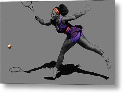 Serena Williams Getting It Done Metal Print by Brian Reaves