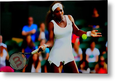 Serena Williams Making It Look Easy Metal Print by Brian Reaves