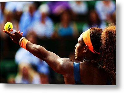 Serena Williams Metal Print by Srdjan Petrovic