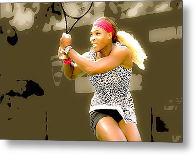 Serena Williams Standing Out Metal Print by Brian Reaves