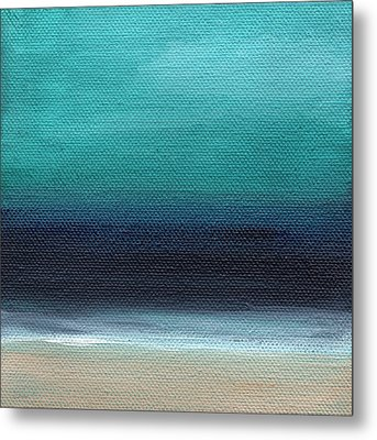 Serenity- Abstract Landscape Metal Print by Linda Woods