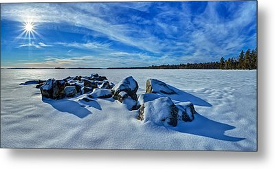 Serenity In Snow Metal Print by Bill Caldwell -        ABeautifulSky Photography
