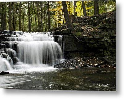 Serenity Waterfalls Landscape Metal Print by Christina Rollo