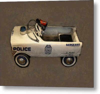 Sergeant Pedal Car Metal Print by Michelle Calkins