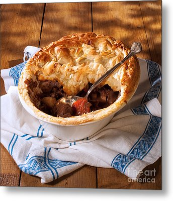 Serving Game Pie Metal Print by Amanda And Christopher Elwell