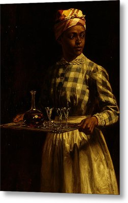 Serving Maid Metal Print by Thomas Waterman Wood