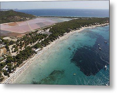 Ses Salines Beach And Salterns, Ibiza Metal Print by Xavier Durán
