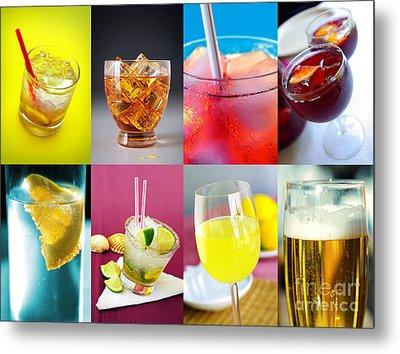 Set Of Drinks Metal Print by Carlos Caetano