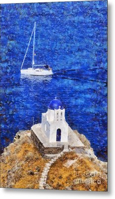 Seven Martyrs Chapel In Sifnos Island Metal Print by George Atsametakis