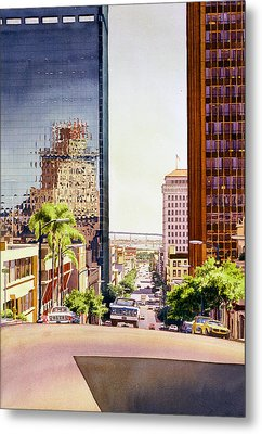 Seventh Avenue In San Diego Metal Print by Mary Helmreich