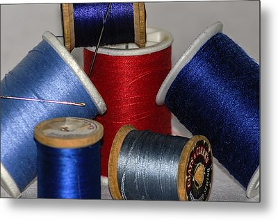 Sew With Me Metal Print by Camille Lopez