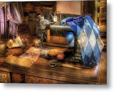 Sewing Machine  - Sewing Machine IIi Metal Print by Mike Savad