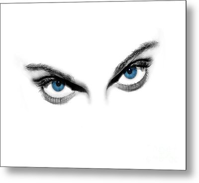 Sexy Blue Eyes  Metal Print by Jt PhotoDesign