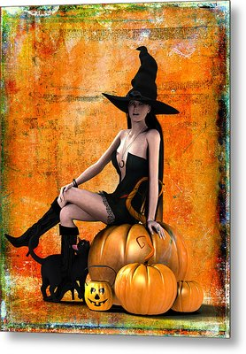 Sexy Halloween Metal Print by Frederico Borges