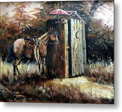 Shade For My Horse Metal Print by Lee Piper