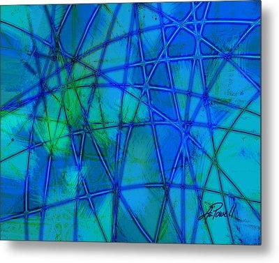 Shades Of Blue   Metal Print by Ann Powell