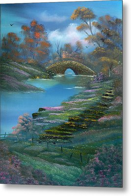 Shades Of The Orient. Metal Print by Cynthia Adams