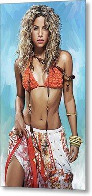 Shakira Artwork Metal Print by Sheraz A